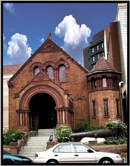 New Orleans Louisiana  -  Memorial Hall Museum - Historic Building (Onasill ~ Bill Badzo) Tags: usa neworlenas la louisiana deepsouth memorial hall museum confederate historic historical nrhp county artifacts csa states america building romanesque civilwar houses clouds sky oldest attractionsite lower garden district arch