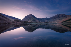 Nautical Twilight Transition (Geoff Moore UK) Tags: water mountains fells lakes reflections clouds landscape lakedistrict nature waterreflections