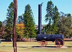 Marshall Steam Engine (Ggreybeard) Tags: gainsborough marshallsonsco liverpool nsw lighthorsepark steamengine wheels spokes chimneystack steel