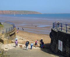 We must go down to the sea again (Row 17) Tags: england yorkshire filey coast coastal beach shore shoreline sea seaside seascape seafront seawall people headland resort
