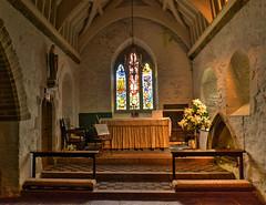 Tintagel Church - Altar & East Window (Baz Richardson (back on 26 May)) Tags: cornwall tintagel churchofstmaterianatintagel englandsthousandbestchurches churches gradeilistedbuildings medievalbuildings normanarchitecture