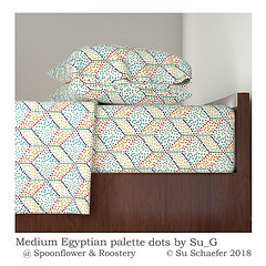 'Medium Egyptian palette dots by Su_G': bed-linen mockup (Su_G) Tags: sug 2018 mediumegyptianpalettedotsbysug bedlinen mockup roostery dots dot dotty dotted dotpainting oilpaints oilpainttexture oilpaintimpasto egyptian egyptiancolourpalette egyptiancolorpalette ancientegyptiancolourpalette ancientegyptiancolorpalette 3d dimensional faux threedimensional naive cubes cube bedding bedsheets sheets sheetset