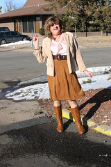 new143303-IMG_2946t (Misscherieamor) Tags: transvestite sissy crossdress tgirl transgender travestis travestie travesti tranny tv ts cd tg m2f tgurl gurl mature xdresser feminine femme transformation travestido travestit travestito traviesa transwoman boots suedeskirt silkbowblouse corduroyjacket windy