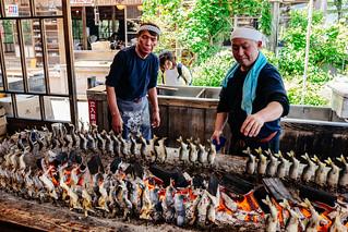 Seasonal fish restaurant grill, Nikko, Japan