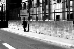 The black man in black (pascalcolin1) Tags: paris jardindesplantes homme man noir black photoderue streetview urbanarte noiretblanc blackandwhite photopascalcolin 50mm canon50mm canon grilles ruebuffon
