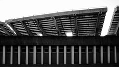 Don't Mind the White Stripes (Gedas14) Tags: architecture brutalist shapes lines columns stripes white black arc stadium abstract