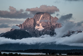 Mt. Moran Surrounded by Clouds