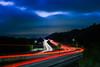 blue hour return (pbo31) Tags: bayarea california nikon d810 color may 2018 spring boury pbo31 alamedacounty eastbay sunol 680 highway roadway lightstream traffic black bluehour country infinity night ramp
