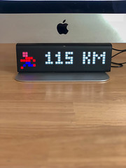 LaMetric Gadget with Running App (marcoverch) Tags: iphonex köln nordrheinwestfalen deutschland de horizontal wood holz noperson keineperson indoors drinnen table tabelle empty leer outdoors drausen horizontalplane horizontaleebene display anzeige technology technologie time zeit desk schreibtisch focus fokus dark dunkel computer style españa flying streetart downtown eye bench event mono graffiti