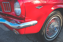 Mustang 200 (ildikoannable) Tags: classiccar mustang red vintage wheel