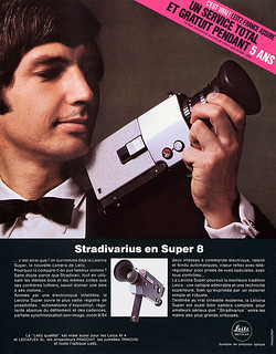 Leicina Super movie camera advertisement.