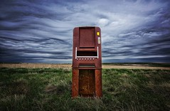 """Hazardous to your health""- (j_piepkorn65) Tags: rurex ghosttown cigarettemachine northdakota abandoned"