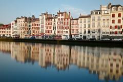 Miroir mon beau Miroir (64laeti) Tags: bayonne visitbayonne leicaq reflection architecture bâtiment eau nive ville longexposure