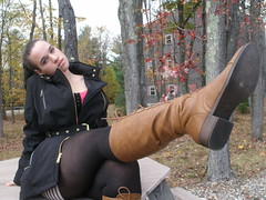 Don't miss any spots this time, dumbass... (Second Look Portraits) Tags: photography portraits justine dominatrix fetish femdom boots leather mistress goddess coed neighbor hot