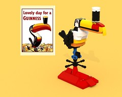 PosterPic02 (LegoOri) Tags: lego toy toys construction toucan guinness beer stout weathervane bird rooftop