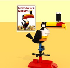 PosterPic01 (LegoOri) Tags: lego toy toys construction toucan guinness beer stout weathervane bird rooftop