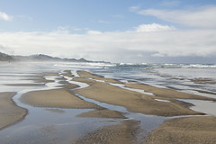 (almost surreal?) Beach Landscape (Garrett Griffith) Tags: review beach fog sky blue water oregon newport pacificnorthwest