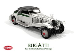 Bugatti Type-41 Victoria Cabriolet Weinberger (lego911) Tags: bugatti type 41 type41 royale victoria cabriolet weinberger convertible classic vintage 1930s france french luxury ultraluxury 41121 1931 auto car moc model miniland lego lego911 ldd render cad povray henry ford museum