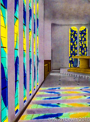 The Matisse Chapel in Vence ( A scan of a photograph taken in 1983) (keithhull) Tags: chapelledurosaire matissechapel vence chapel stainedglass reflections modernart france scan 1983