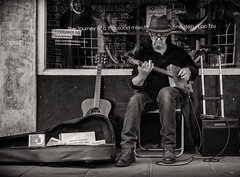 the journey.... (Daz Smith) Tags: dazsmith fujixt20 fuji xt20 andwhite bath city streetphotography people candid portrait citylife thecity urban streets uk monochrome blancoynegro blackandwhite mono blues musician music performer guitar man hat