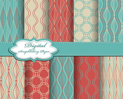 "set of vector abstract pattern paper for scrapbook • <a style=""font-size:0.8em;"" href=""http://www.flickr.com/photos/151084956@N05/41645674262/"" target=""_blank"">View on Flickr</a>"