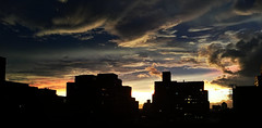 2017 iPhone HDR Sunset (TheMachineStops) Tags: 2017 sunset sky clouds iphone6 dusk hdr nyc newyorkcity manhattan westvillage cityscape buildings viewfrommywindow