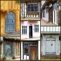 Lavenham Doors, Suffolk, England (teresue) Tags: 2013 uk unitedkingdom greatbritain england suffolk eastanglia lavenham picmonkey collage doors