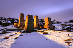 Towers of Dub II (J C Mills Photography) Tags: peakdistrict derbyshire leadmining harbororocks hopton brassington lightpainting longexposure snow winter