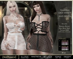 [NyDesign] Tempting Lace Variety - HUD Driven_TDME May Exclusive ([NyDesign]) Tags: nydesign tdme thedarknessmonthlyevent maitreya belleza slink ebodycurvy tonic hourglass physique freya isis venus curvy fine lace darkness roleplay fashion secondlife virtualworld gothic club urban party sheer vampire steampunk