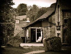 Once I was in England (pootlepod) Tags: canon60d monochrome black white aged old time vintage memories england france architecture building stone walls light windows doors churn norman contrast shade raw natural naked noir blue green shadow dark frme lamp swann proust shadows antique