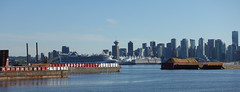 Vancouver harbour and city (D70) Tags: sony dscrx100m5 ƒ56 257mm 1800 125 nieuw amsterdam docked canada place burrard inlet may 5th 2018 vancouver harbour city star princess departs cruise ship seaspan barges wood chips canadaplace britishcolumbia nieuwamsterdam cropped