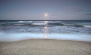 Moonrise over Cocoa Beach.