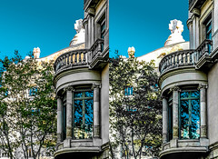 Gaudì's fireplaces 3D (Immagini 2&3D) Tags: lapedrera passeigdegracia barcelona catalunya spain 3d stereophotography stereoscopia stereoscopy