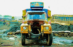 Brainless or Heartless? (Sagor's) Tags: bangladesh bd black blue beautiful color colour colors colours colorful colourful city cloudy concept conceptual concepts truck construction yellow nikon nature nikond5300 nikon5300 tamron tamron17 tamron1750 tamronlens wide gabtoli vehicle
