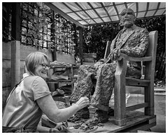 Vicki (AEChown (away now)) Tags: sculptor sculpture clay artist studio documentary