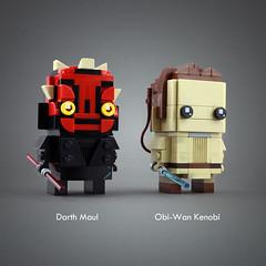 Darth Maul & Obi-Wan (LEGO 7) Tags: lego moc brickheadz starwars rose jarjar maul obiwan