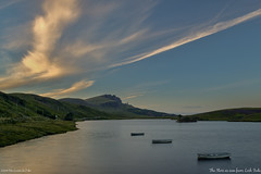 The Storr as seen from Loch Fada (pDOTeter) Tags: ifttt 500px 3 clouds europe landscape scotland skye sunset uk boats fada golden hour icon isle lake loch old man storr three tranquil goldenhour isleofskye lochfada oldmanofstorr portree unitedkingdom