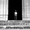 The photographed photographer (pascalcolin1) Tags: paris homme man panthéon photographe photographer photographié photographed photoderue streetview urbanarte noiretblanc blackandwhite photopascalcolin 5omm canon50mm canon