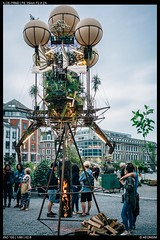 Mad art - Liege (Falcdragon) Tags: art sculpture garden steampunk strange contraption liege belgium liège sonya7riialpha sonyzeisssonnarfe2835mmza