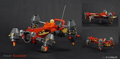 Hover roadster (Brick Martil) Tags: toy lego moc hover car roadster red speeder cyberpunk futuristic