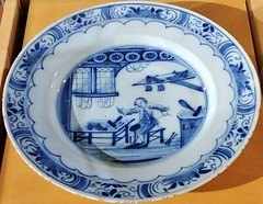 Delftware (Will S.) Tags: dutch mypics batashoemuseum toronto ontario canada shoes footwear boots history theannex bloorstreet delft blue plate tile