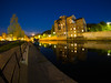 Reflection of Life (RS400) Tags: bath water reflection building blue sky night time wow cool wicked travel fish eye len landscape long exposure tre southwest olympus light
