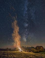 Bonfire of the Galaxies II (Alan Studt) Tags: alanstudt nikon d810 tamron150300mmf28 adobelightroom shotinrawformat stars starrysky starrynight nightsky bonfire milkyway westlafayette ohio