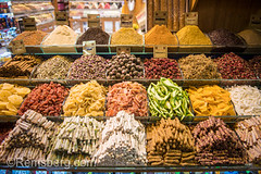 Orderly piles of various dried fruits, spices and other goods .on display in market stall at Istanbul Spice bazaar in Turkey (Remsberg Photos) Tags: bazaar market souk spice istanbul turkey egyptianbazaar commerce business retail shopping exchange commodities vendor bountiful abundant forsale marketplace indoor choice variation food freshness products eminonuquarter fatihdistrict colorful middleeast famousplace traveldestination consumerism economy