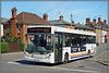 Travel de Courcey 566, Brinklow (Jason 87030) Tags: 566 ae57cmz man evolution bus 585 coventry rugby brinklow village regards broadst street white orange blue evo 2018 sony ilce driver wave friednly debit area roadside patch sunny light wheels traveldecourcey mike uk england midlands mcv