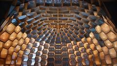 helmet - museum folkwang, essen (dan.boss) Tags: honeycomb classicchrome x100f wood loscarpinteros museumfolkwang essen nrw hexagon