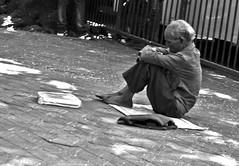 Hoping for a good day (magiceye) Tags: pavement entreprreneur streetportrait street streetphoto monochrome blackandwhite mumbai bnw india