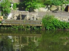 Terrace by Bath Locks on K&A Canal (Normann) Tags: canal kennetandavon bath reflection