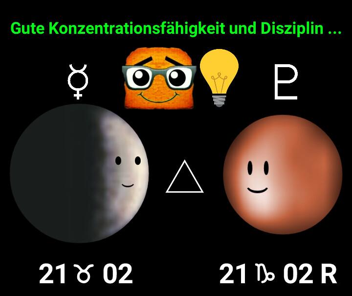 Merkur Trigon Pluto