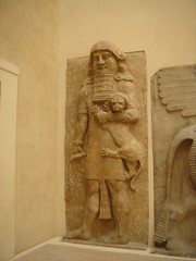 The Hero Overpowering a Lion (StaneStane) Tags: sculpture paris france art museum louvre lion hero mesopotamia basrelief assyria gilgamesh sargon neoassyrian